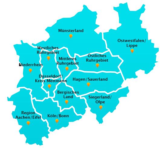 Regionen Winterdienst Schnee- Eisbeseitigung NRW